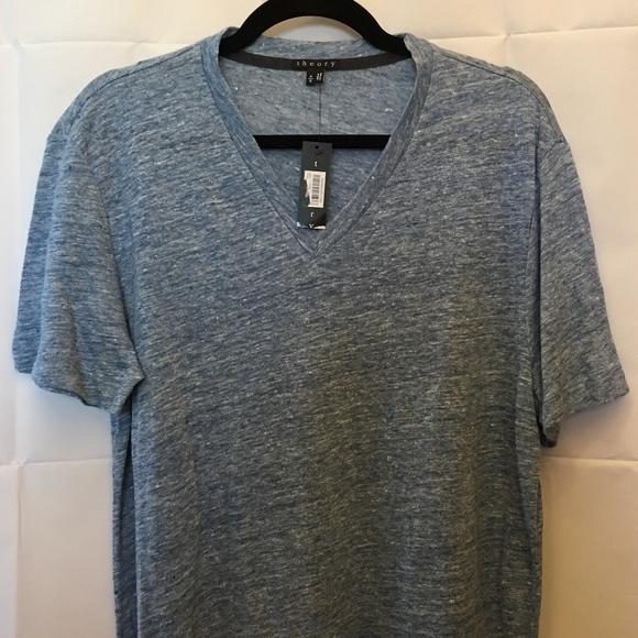 b84a3614bad Theory Shirts | Mens Blue Linen Tshirt Nwt Size M | Poshmark